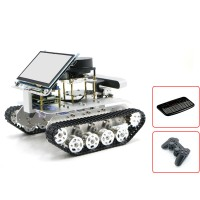 Tracked Vehicle ROS Car w/ Touch Screen Voice Module A1 Standard Radar For Raspberry Pi 4B 2GB