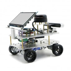 4WD ROS Car Robotic Car w/ Touch Screen Voice Module A1 Standard Radar For Raspberry Pi 4B 2GB
