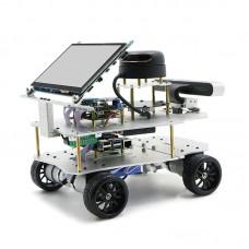 4WD ROS Car Robotic Car w/ Touch Screen Voice Module A1 Standard Radar For Raspberry Pi 4B 4GB