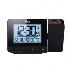 FanJu FJ3531 Projection Clock Alarm Clock Time Temperature Projection LED Screen USB Charging Black