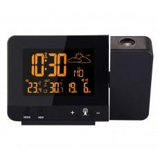FanJu FJ3531B Projection Clock Weather Clock 8 Adjustable Backlights For Indoor Outdoor Temperature