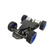 RC Car Chassis Smart Robot Chassis Assembled Faster Version Servo Steering With Encoder Motor