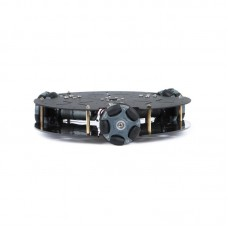 58MM Plastic Omni Wheel Robot Chassis Smart Car Chassis Unassembled w/ 360CPR Photoelectric Encoder