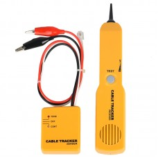 Cable Tracker RJ11 Cable Tracer Network Short-Circuit Tester Alligator Clip Test Line w/ Storage Bag