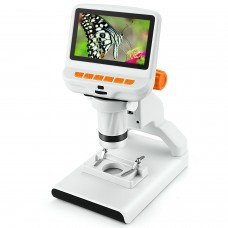 """Andonstar AD102 220X Kids Digital Microscope 4.3"""" Science Section Observation PC Connection Orange"""