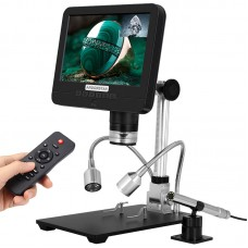 "Andonstar AD206S 50X 2MP Industrial Digital Microscope USB Endoscope Dual-Lens Display 7"" Screen"