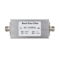 Band Pass Filter BPF 88-108MHz Bandpass Filter Anti-Interference High Receiving Sensitivity 100W