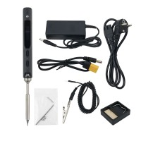 TS100 65W 24V Mini Soldering Iron Kit OLED Display Adjustable Temperature w/ Soldering Tip TS-B2