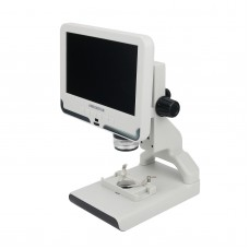 """ANDONSTAR AD108 200X Digital Microscope 2MP Electronic Magnifier 7"""" LCD Plastic Stand White Monitor"""