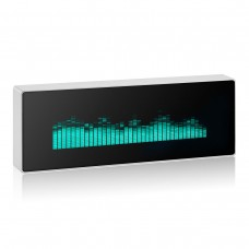 N128 Music Spectrum Display Analog VU Meter VFD Clock Sound Level Indicator w/ Aluminum Alloy Shell