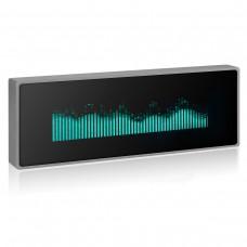 N128 Music Spectrum Display Analog VU Meter VFD Clock Sound Level Indicator With Plastic Shell Grey