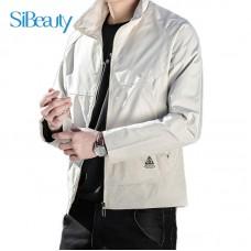 Men Coat Men Jacket Spring Autumn Casual Clothes Jacket Men's Tops 2021 Korean Style Khaki M L XL