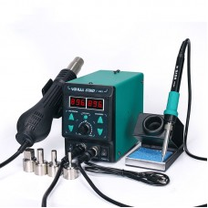 YIHUA 8786D I 2-In-1 Hot Air Gun Soldering Station Thermostatic SMD Rework Mobile Phone Repair Green