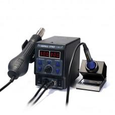 YIHUA 8786D I 2-In-1 Hot Air Gun Soldering Station Thermostatic SMD Rework Mobile Phone Repair Black