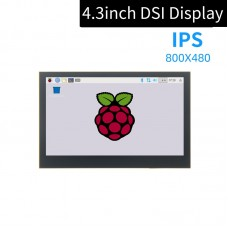 4.3 Inch DSI Display 800x480 IPS Display Capacitive Touch Drive-Free For Raspberry Pi MIPI DSI Port