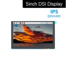 5 Inch DSI Display 800x480 IPS Display Capacitive Touch Drive-Free For Raspberry Pi MIPI DSI Port