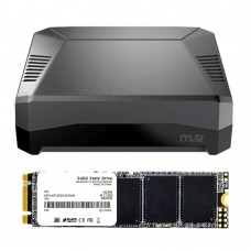 Argon One M.2 1TB SATA SSD with Raspberry pi 4 Case Raspberry Pi 4 Aluminum Case M.2 Expansion Slot And SATA SSD Chip