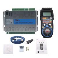 4-Axis USB Mach3 Motion Controller Card 2MHz Breakout Board MK4-V + 4-Axis MPG Handwheel Pendant