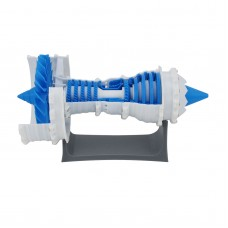 3D Printed Jet Engine Model Aircraft Engine Supercharged Engine w/ Sawtooth Nozzle For Trent 1000