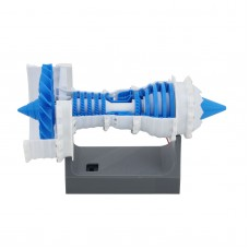 3D Printed Electric Jet Engine Model Aircraft Supercharged Engine w/ Sawtooth Nozzle For Trent 1000
