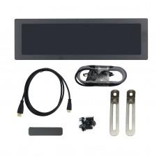 "1920x515 8.8"" IPS Screen For AIDA64 Display Dynamic Display Adjustable Brightness Metal Shell Black"