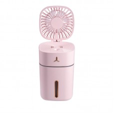 U9 300ML Rechargeable Air Humidifier Diffuser Spray Fan Mister Adjustable Fan Angle With Night Light