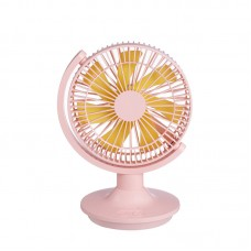 L10 Small Oscillating Desk Fan Portable Table Fan 180° USB Rechargeable For Office Bedroom Tabletop