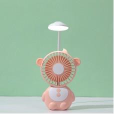 YPK-U3 Monkey-Shaped Portable Fan Adjustable Speeds USB Mobile Power Bank With Desktop Night Light