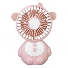 YPK-U3 Monkey-Shaped Portable Fan Adjustable Speeds USB Mobile Power Bank Without Night Light