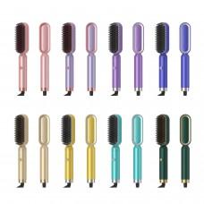 WT-065 Ceramic Thermostat Hair Straightener Brush Quick Beard Straightener Comb Beard Shaping Tool
