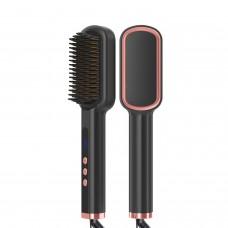 WT-070 Anion Hair Straightener Beard Straightener Heated Beard Brush Shaping Tool With LED Display