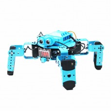 Bionic Quadruped Robot Spider Robot Blue Assembled For Graphical Programming Obstacle Avoidance