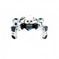 Bionic Quadruped Robot Spider Robot White Assembled For Graphical Programming Obstacle Avoidance