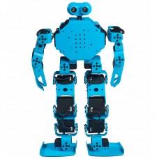 17DOF Humanoid Robot Educational Programming Robot Blue Assembled Cellphone APP Bluetooth Control