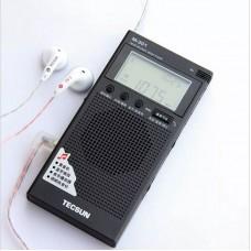 TECSUN M-301 FM-BT Receiver Music Player Mini FM Radio 64-108MHz Bluetooth Receiver w/ Earphones
