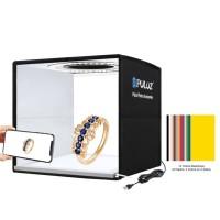 "PKT3101B 9.8"" Puluz Photo Light Box Foldable Shooting Tent Shadowless Light w/ 12-Color Backdrops"