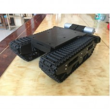 Tracked Robot Tank Chassis Shock Absorption Suspension Assembled DIY Toy Car 3D Printing w/ Motors