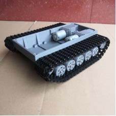 Assembled RC Tank Chassis Tracked Chassis DIY Climbing Car 3D Printing Load 5KG With Motors 370