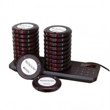 RETEKESS TD163 Restaurant Pager Restaurant Paging System w/ 20 Coaster Pagers Dual Charging Base