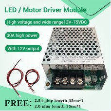 ZK-SMG LED/Motor Driver Module 12-75V DC 30A For Breeding Lighting Dimming And Speed Regulation