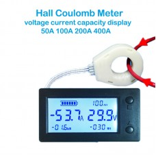 WLS-PVA050 Bluetooth 50A STN LCD Hall Coulomb Meter Voltage Current Meter Power Electricity Tester