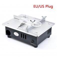 Mini Multifunctional Table Saw Electric Desktop Saws Small Household DIY Cutting Tool Woodworking Bench Lathe Machine EU Plug