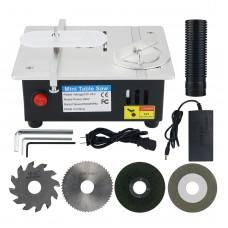 Mini Desktop Saw Multifunctional Table-Saw Electric Desktop Saws Grinding Wheel Woodworking Lathe Machine US Plug