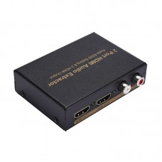 NK-912 2 Port HDMI Audio Extractor Splitter Audio EDID Setting & 2 HDMI Output For DVD PS3 HD Player