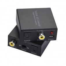 NK-Q7 DAC Digital Audio Converter 2-Way Optical Audio Converter Compact Size For Toslink Coaxial
