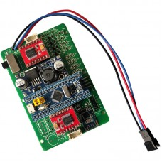 RC Controller STM32 Board w/ Batteries Charger Wireless Controller For PS2 97MM Mecanum Wheel Car