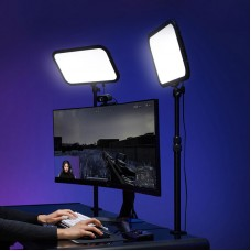 Godox ES45 Kit E-Sports LED Light 2800K-6500K Mounting Rod With APP Remote Control For YouTube Game Studio