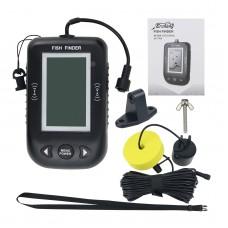 Erchang XF02 Fish Finder Sonar Alarm 100M Portable Ultrasonic Fishing Lure Echo Sounder B&W Screen