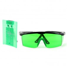 Magnetic Target Card Plate Level Tool Rotary Cross Line Horizontal Vertical with Protection Goggle Glasses Set-Green
