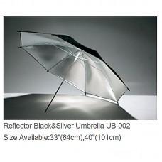 "Godox UB-002 40"" Reflective Umbrella Black Silver Umbrella Reflector Studio Photography Accessories"